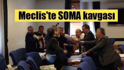 Meclis'te yumruklar konuştu,  Vekiller bu kez Soma için yumruklaştı