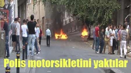 Okmeydanı'nda polise ve itfaiyeye saldırı