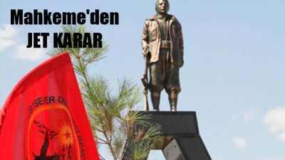 PKK mezarlığındaki heykel için yıkım kararı
