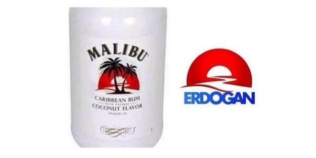 Paralelcilerden Erdoğan'a 'Malibu'lu logo iftirası