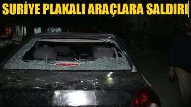 Suriye plakalı araçlara taşlı sopalı saldırı
