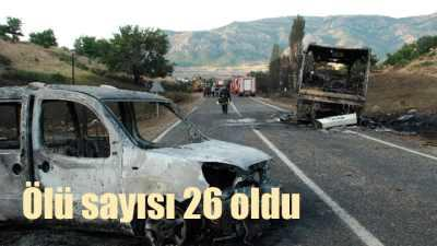 Tanker Faciası'nda ölü sayısı 26'ya çıktı