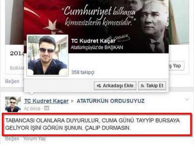 Tayyip Bursa'ya geliyor, işini bitirin twiti