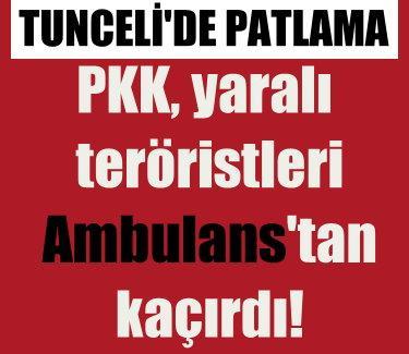 Tunceli'de şiddetli patlama, 1 PKK'lı öldü, 3 yaralı var