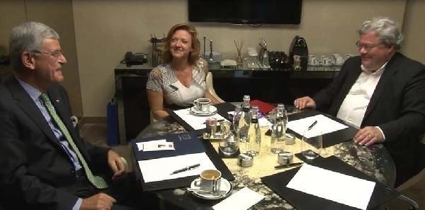 Ab Bakanı Bozkır, Avrupa Yeşiller Partisi Eşbaşkanlarıyla Görüştü