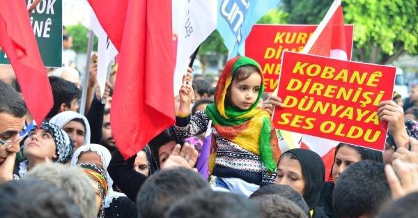 Adana Ve Mersin'den Kobani'ye Destek Yürüyüşü