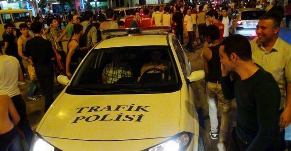Adıyaman'da polis, Galatasaraylı taraftarlara üçlü çektirdi