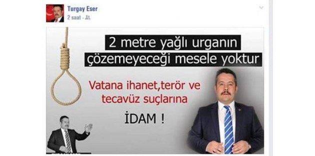AK Partili Başkan idam cezası istedi