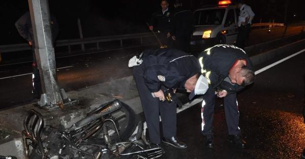 Alkollü Ve Kasksız Sürücü Ölümden Döndü