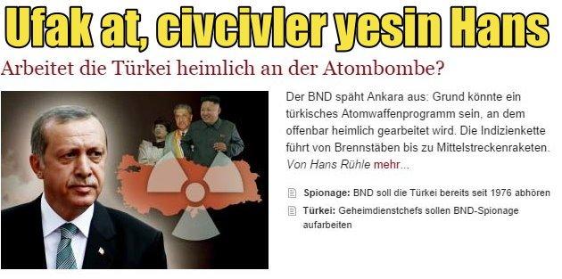 Alman istihbaratı Türkiyeyi Nükleer silah için dinlemiş