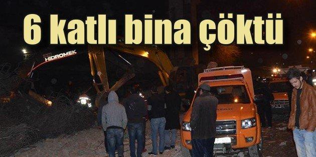 Amasya'da 6 katlı bina çöktü, 1 ölü var