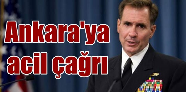 Amerika'dan Ankara'ya acil çağrı; YPG'yi vurmayın