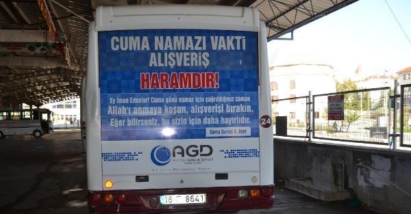 """Anadolu Gençlik Derneği'nden Ayetli """"cuma Uyarısı"""""""