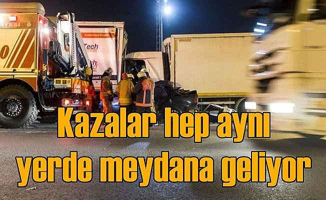 İstanbul'da trafik kazalarının yoğun olduğu bölgeler hep aynı