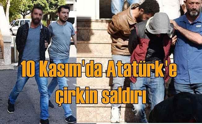 10 Kasım'da ağır provokasyon; Atatürk büstüne saldırdılar