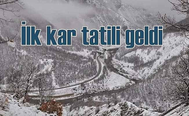 Okullarda kar tatili sezonu açıldı; İlk tatil Pülümür'de