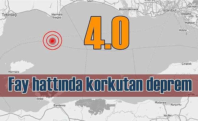 Son Depremler, Marmara Denizi'nde korkutan deprem; 4.0