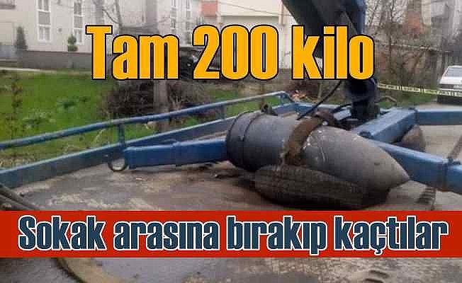 200 kiloluk top mermisini sokağa terk ettiler