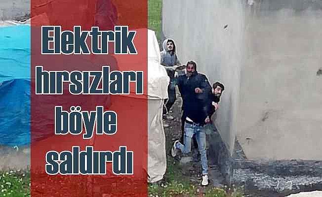 Kaçak elektrik hırsızları böyle saldırdı
