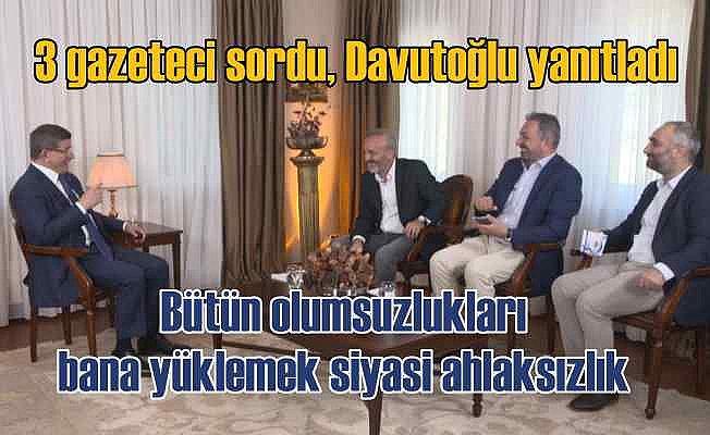 Davutoğlu'ndan önemli açıklamalar   TV'de gördüğümde beynime kaynar sular döküldü