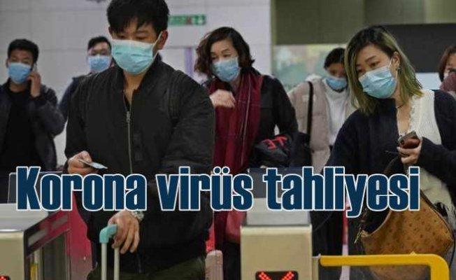Korona virüs tahliyesi   32 vatandaşımız tahliye ediliyor