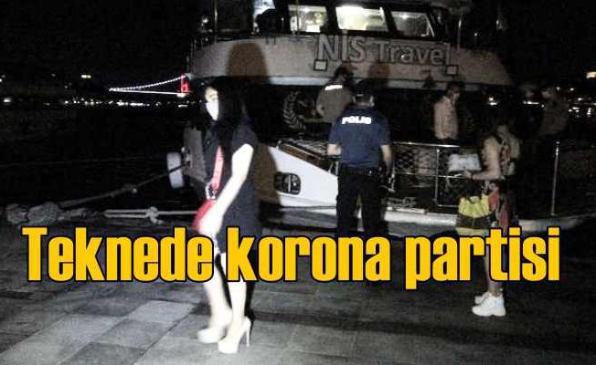 Teknede 150 kişi korona partisi düzenledi, polis ceza yağdırdı