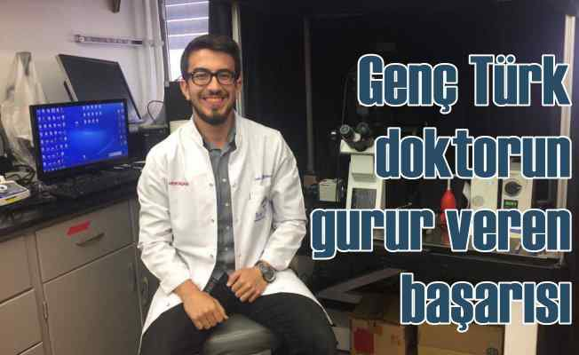 Türk doktor adayından gururlandıran başarı