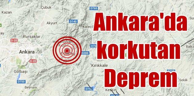 Ankara Elmadağ'da deprem, Ankara 3.9 ile sallandı