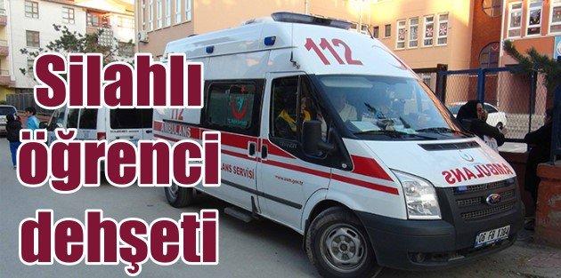 Ankara Esertepe'de öğrenci okulu silahla bastı