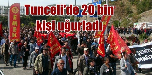 Ankarada can veren iki kişi Tuncelide 20 bin kişi uğurlandı