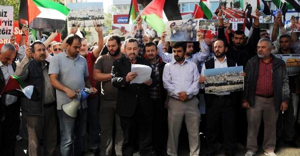 Antalya'da İsrail'e Tepki Eylemi