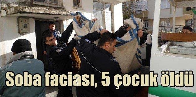 Antalyada soba faciası, 5 çocuk öldü