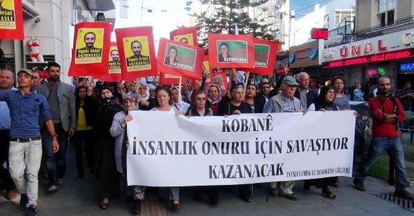 Antalya'daki Kobani Eyleminde Gerginlik