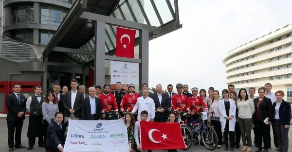 Antalya'dan Çanakkale'ye bisikletle zafer sürüşü