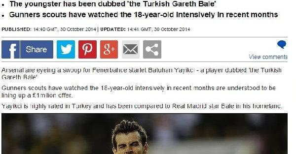 Arsenal'in Hedefindeki Genç Türk