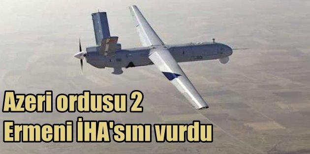 Azerbaycan ordusu 2 Ermeni İHAsını vurdu