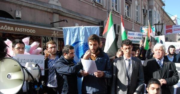 Bartın'da İsrail Protestosu
