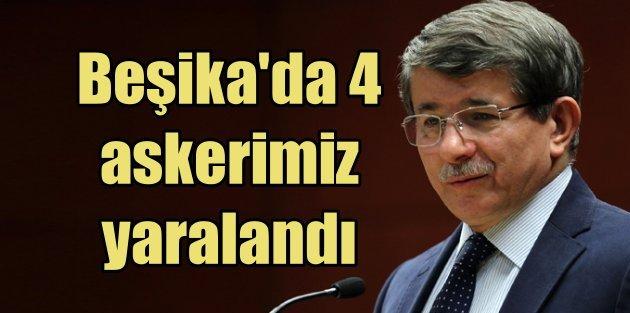 Başbakan Ahmet Davutoğlu'ndan Başika için TSK tam yetkili