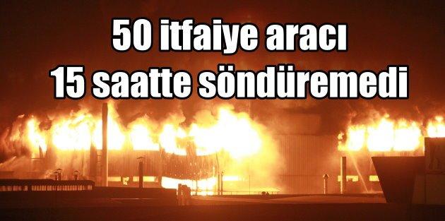 Bursa'da yangın; 50 itfaiye aracı 14 saatte kontrol altına aldı