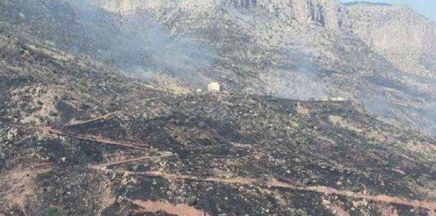 Cudi dağındaki yangın kontrol altına alındı
