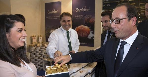 Cumhurbaşkanı Hollande, Bursa Kestane Şekerini Beğendi