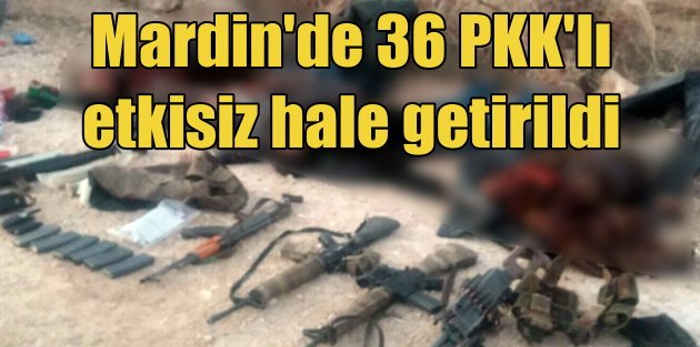 Dargeçit'te 36 PKK'lı etkisiz hale getirildi
