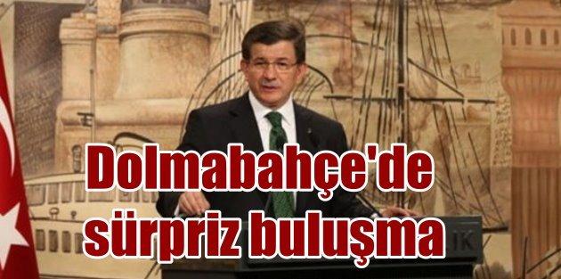 Davutoğlu Dolmabahçede medya yöneticileriyle buluştu