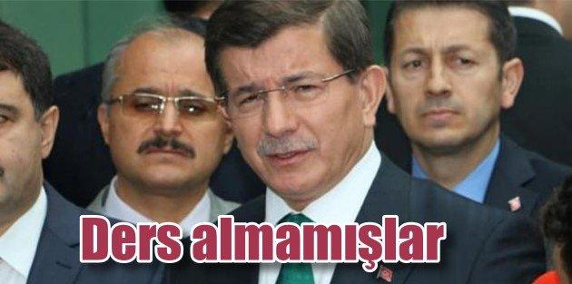 Davutoğlu, Kobani olaylarından ders almamışlar