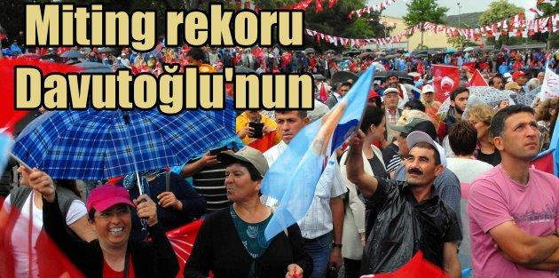 Davutoğlu rekor kırdı: 68 mitingle fark attı