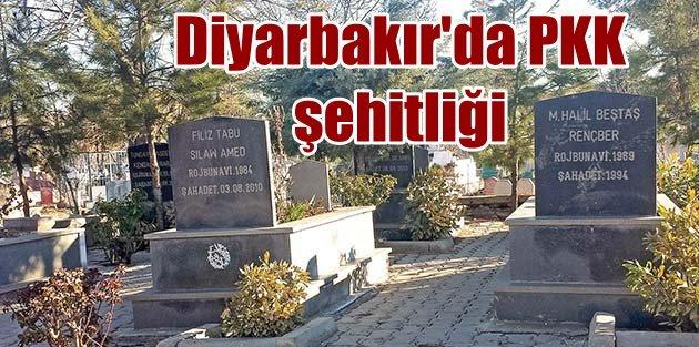 Diyarbakır Belediye mezarlığında sözde PKK şehitliği!