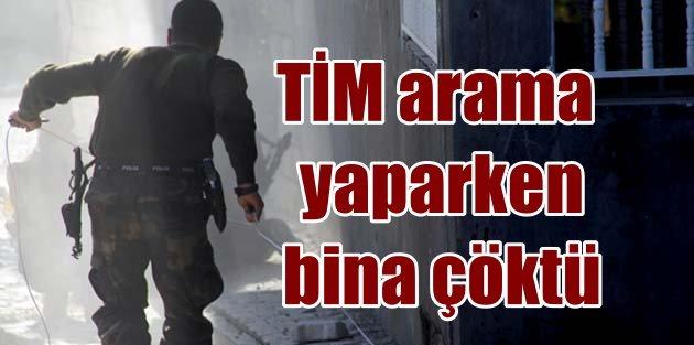 Diyarbakır Sur'da son durum, güvenlik güçlerinin olduğu bina çöktü
