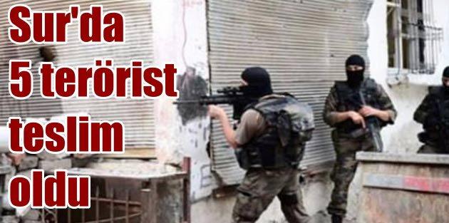 Diyarbakır Sur'da son durum, Teröristler teslim oluyor