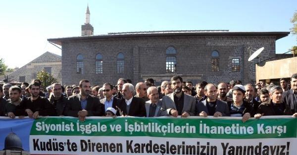 Diyarbakır'da İsrail Protesto Edıldı