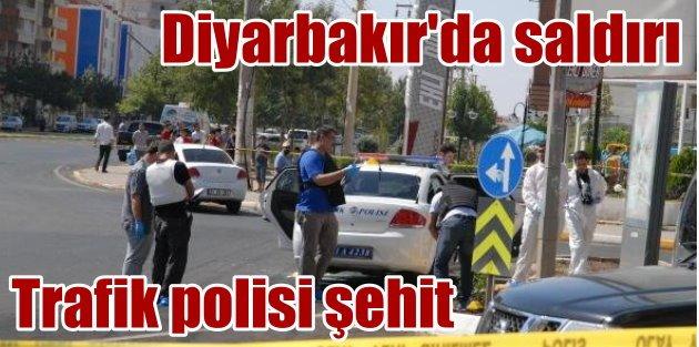 Diyarbakırda trafik polisine saldırı: 1 şehit, 1 yaralı